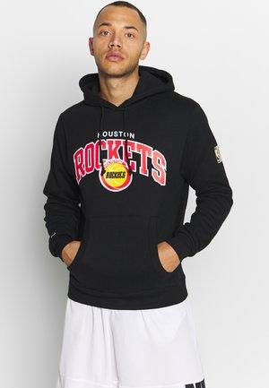 NBA HOUSTON ROCKETS LOGO HOODY - Klubové oblečení - black