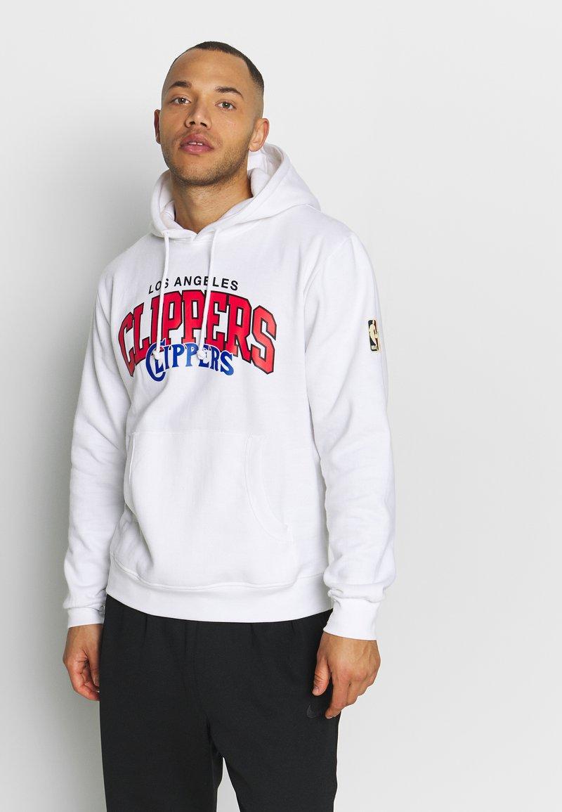 Mitchell & Ness - NBA LA CLIPPERS LOGO HOODY - Hoodie - white