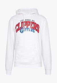 Mitchell & Ness - NBA LA CLIPPERS LOGO HOODY - Hoodie - white - 3