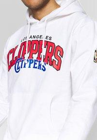 Mitchell & Ness - NBA LA CLIPPERS LOGO HOODY - Hoodie - white - 4