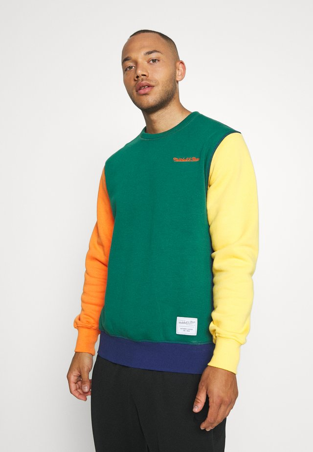 COLORBLOCKED CREW - Sweatshirt - dark green