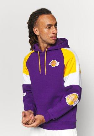 NBA LOS ANGELES LAKERS INSTANT REPLAY HOODY - Klubtrøjer - purple
