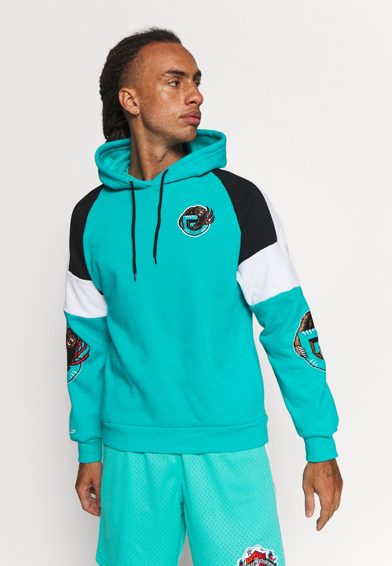 Mitchell & Ness - NBA VANCOUVER GRIZZLIES INSTANT REPLAY HOODY - Fanartikel - teal