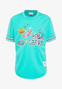 Mitchell & Ness - NBA ALL STAR NAME NUMBER - T-shirt print - teal - 5