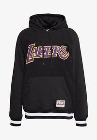 Mitchell & Ness - NBA LA LAKERS GAMETIME  - Mikina s kapucí - black - 4