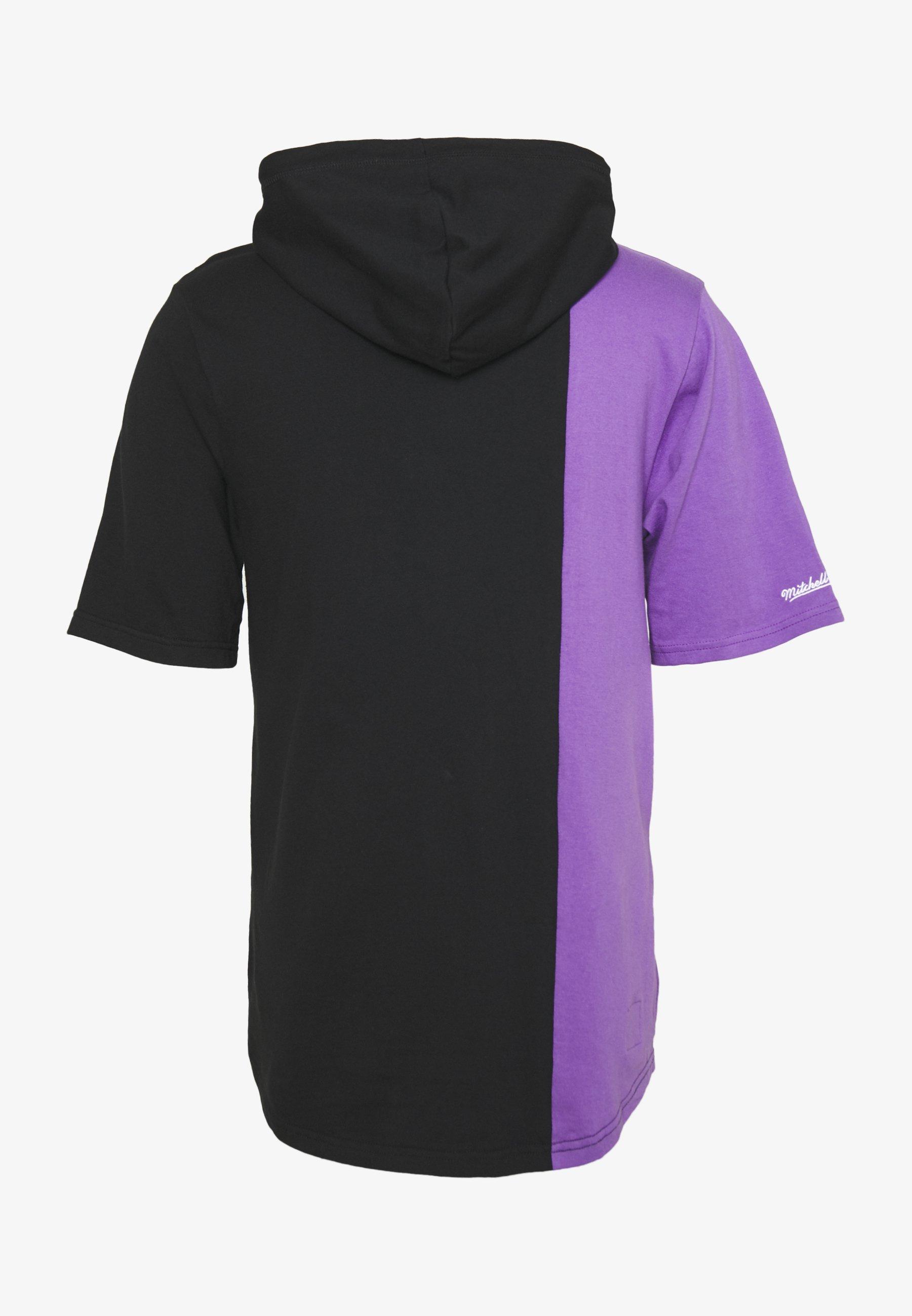 Mitchell & Ness Nba Toronto Raptors Shortsleeve Split Hoody - Klubbkläder Black/purple