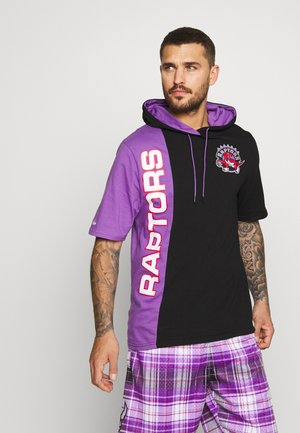 NBA TORONTO RAPTORS SHORTSLEEVE SPLIT HOODY - Club wear - black/purple