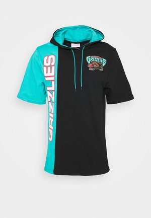 NBA VANCOUVER GRIZZLIES SHORTSLEEVE HOODY - Article de supporter - black/teal