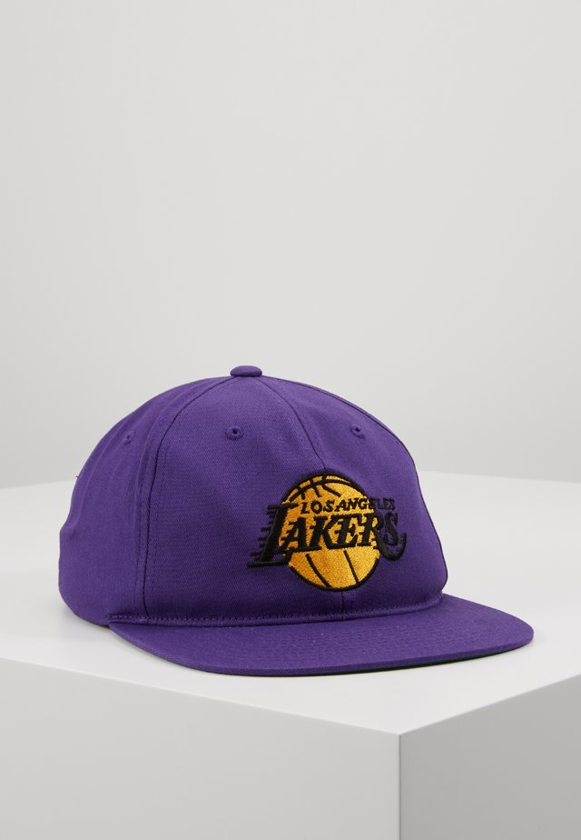 TEAM LOGO DEADSTOCK THROWBACK SNAPBACK LAKERS - Cap - purple