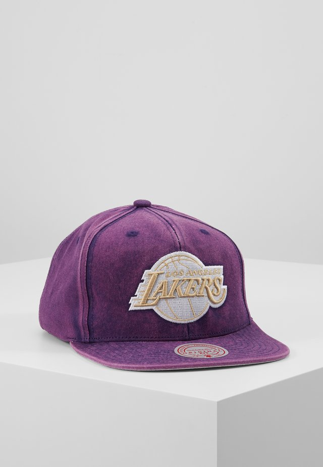 NBA LA LAKERS SNOW WASHED NATURAL SNAPBACK - Cap - purple