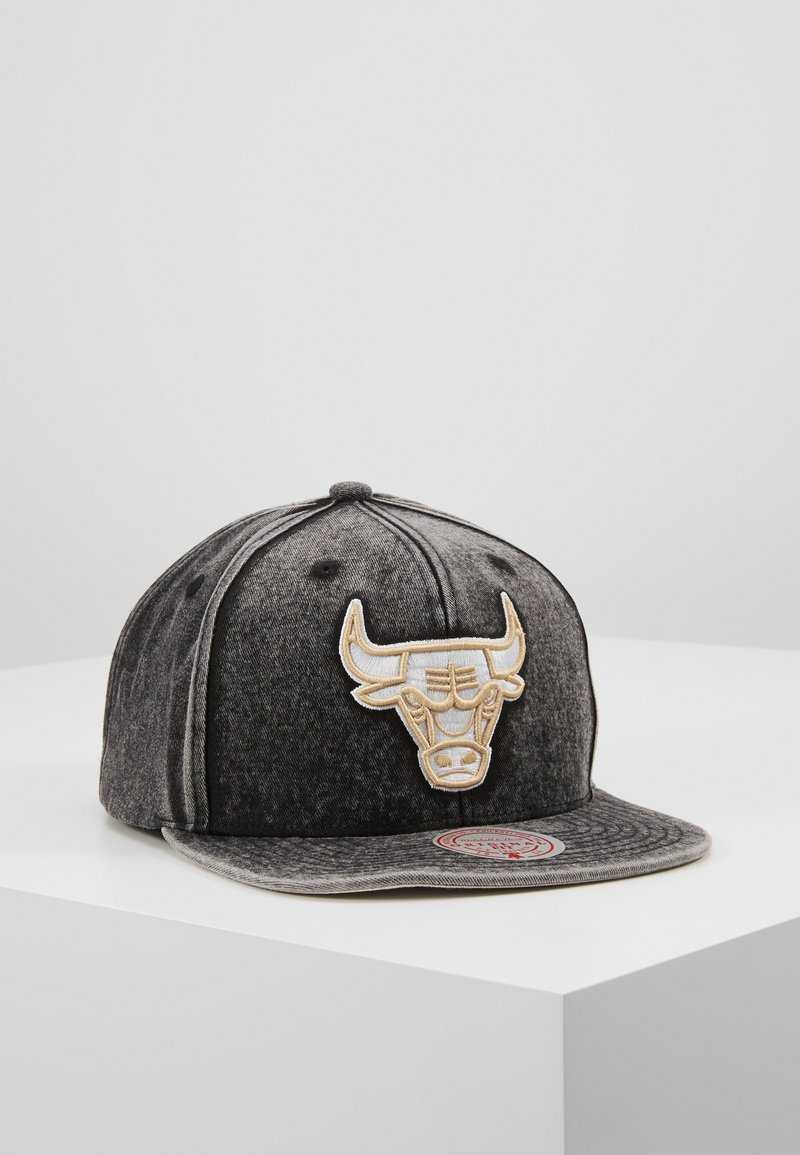 Mitchell & Ness - NBA CHICAGO BULLS SNOW WASHED NATURAL SNAPBACK - Caps - black