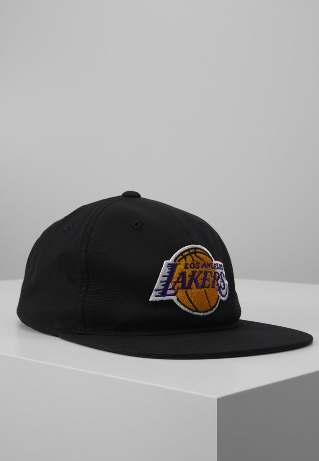 NBA LA LAKERS TEAM LOGO DEADSTOCK THROWBACK SNAPBACK - Lippalakki - black