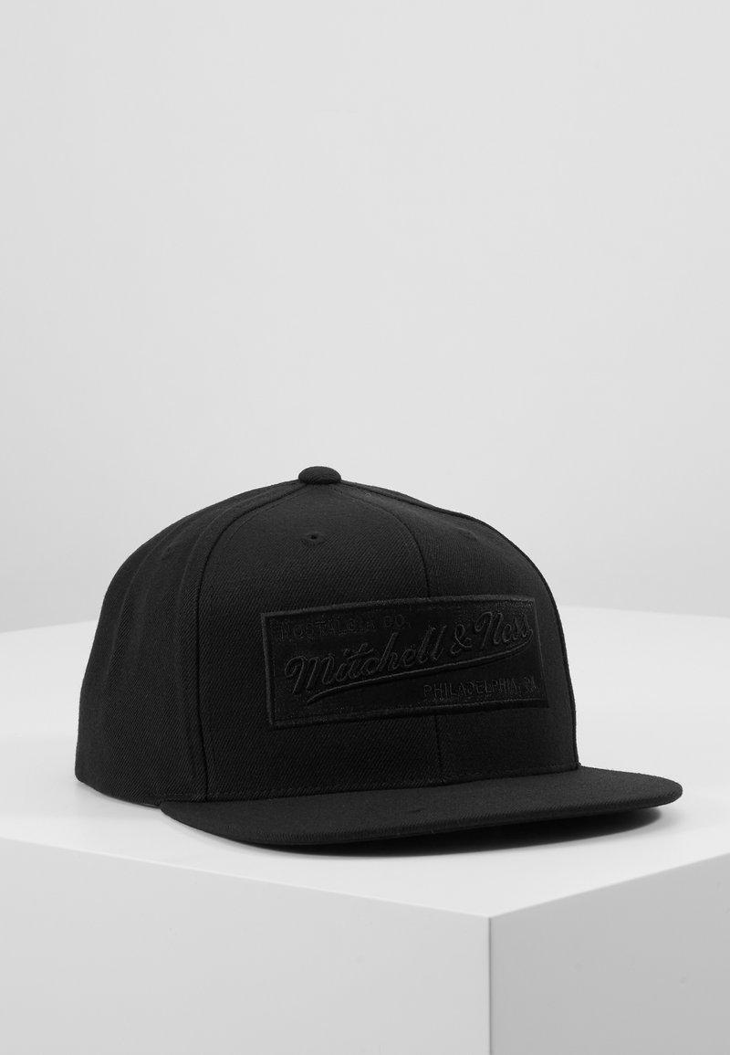 Mitchell & Ness - BOX LOGO SNAPBACK - Caps - black