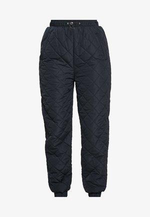 PETAL PADDED PANTS - Kalhoty - black