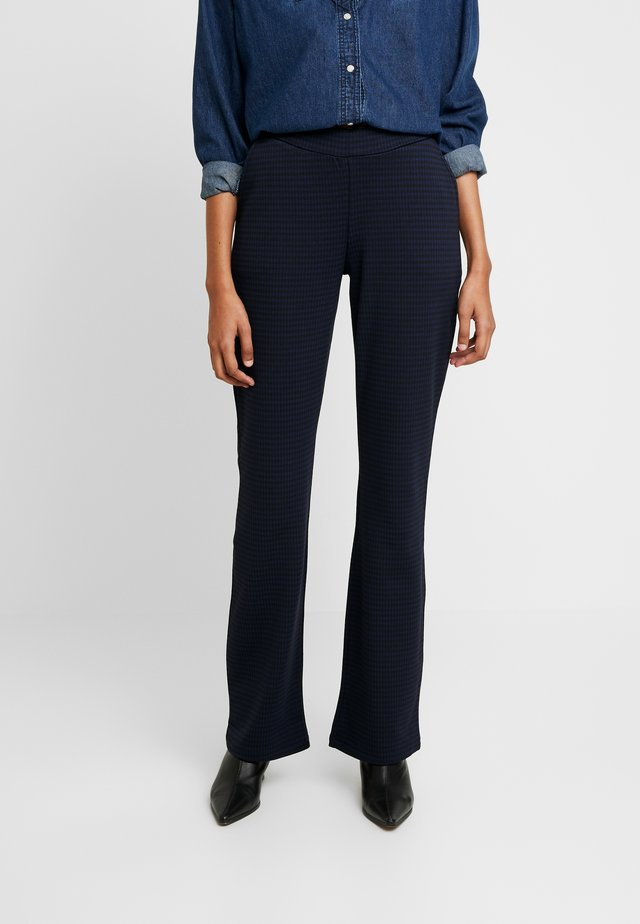 SEANA PANTS - Trousers - navy gingham check