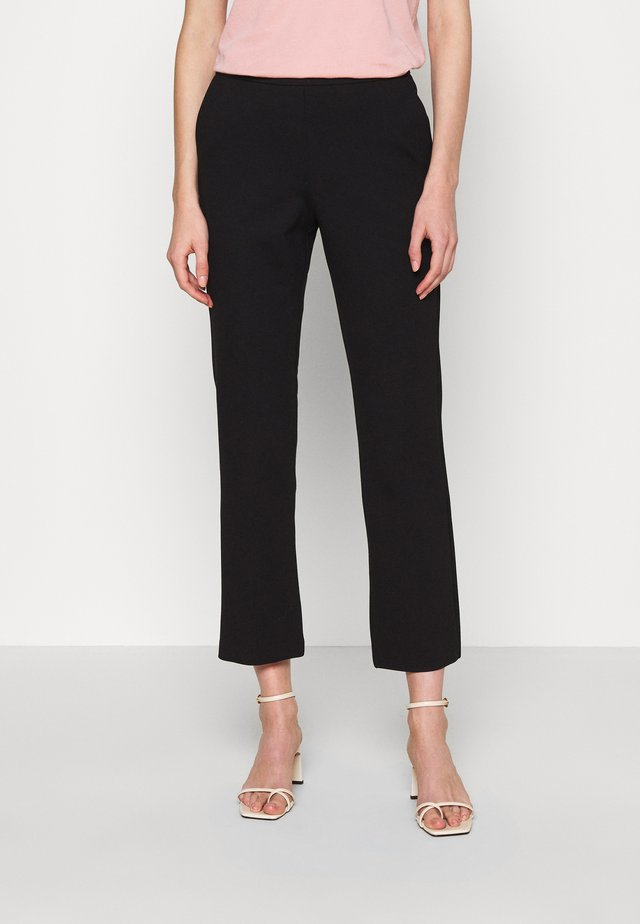 TANNY CROPPED PANTS - Tygbyxor - black