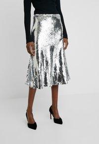 Modström - VIBE SKIRT - A-line skirt - silver - 0