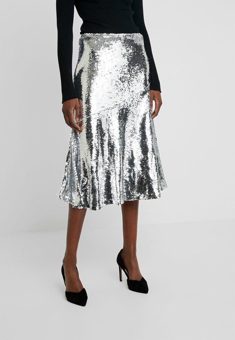 Modström - VIBE SKIRT - A-line skirt - silver