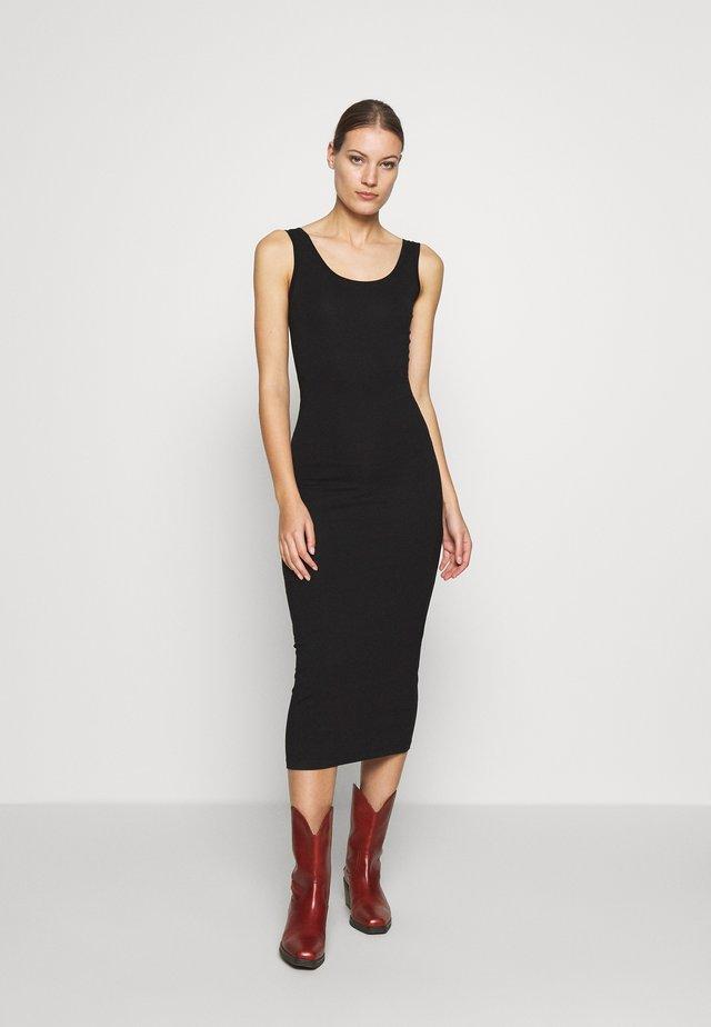 TULLA LONG - Vestito di maglina - black
