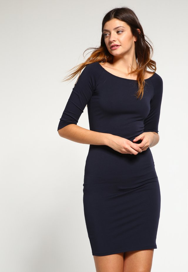 TANSY - Sukienka z dżerseju - navy noir