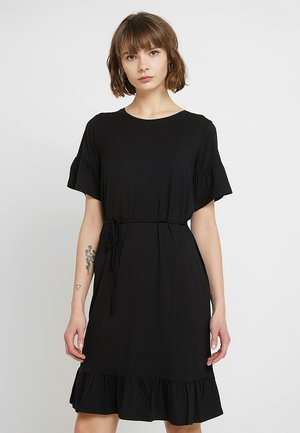 NILEN DRESS - Jerseyklänning - black