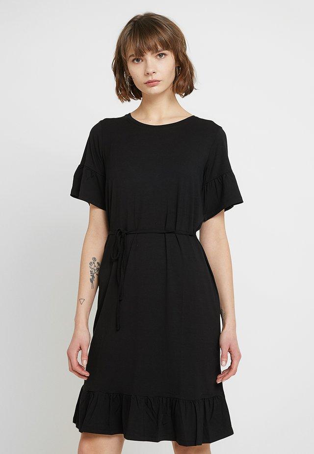 NILEN DRESS - Jersey dress - black