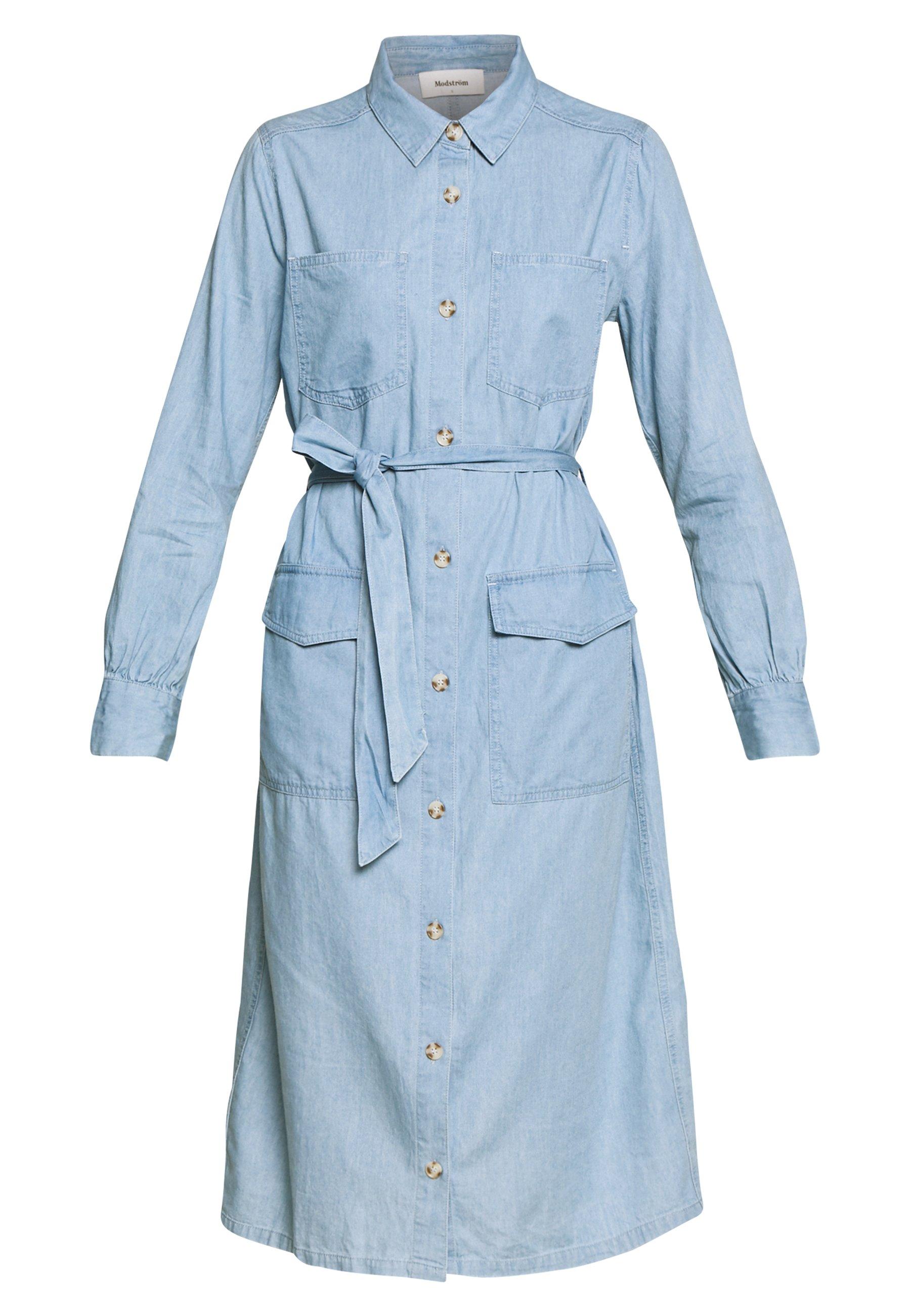 Modström Barret Dress - Kjole Vintage Blue