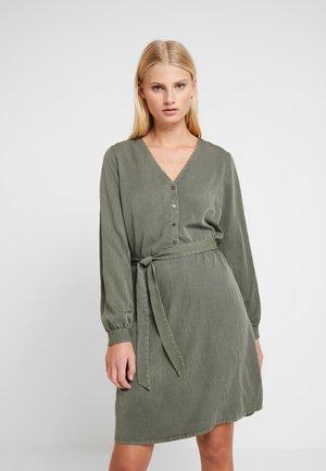 BELLEVUE DRESS - Shirt dress - dark khaki
