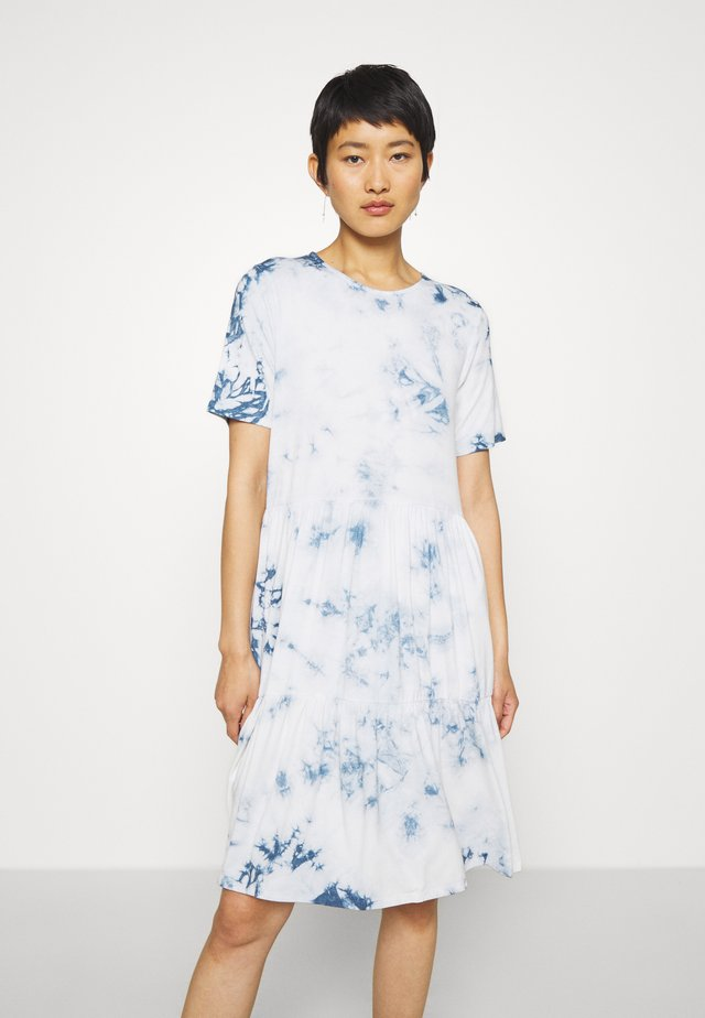 CANE DRESS - Jerseykleid - zen blue
