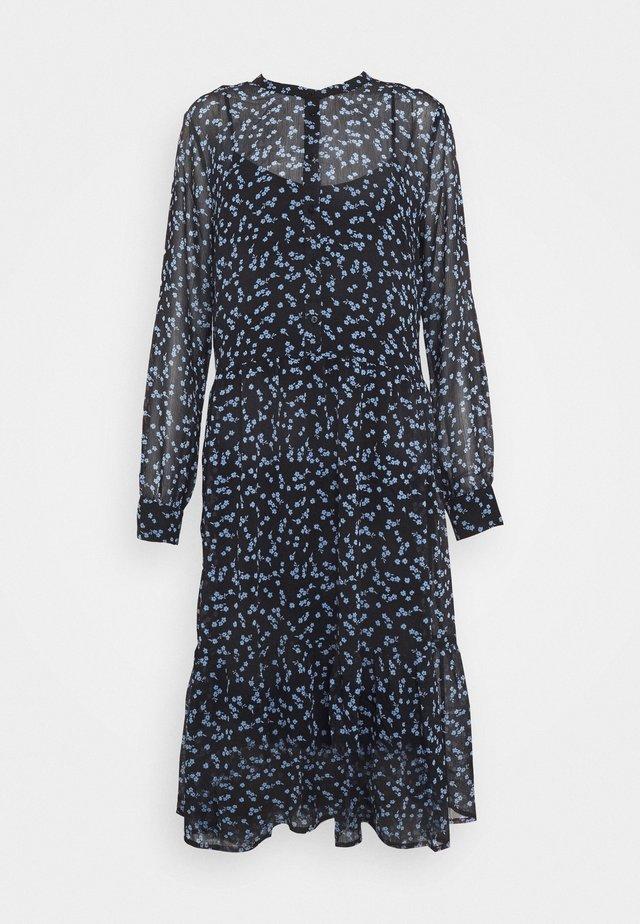 TINYA PRINT DRESS - Paitamekko - black/light blue