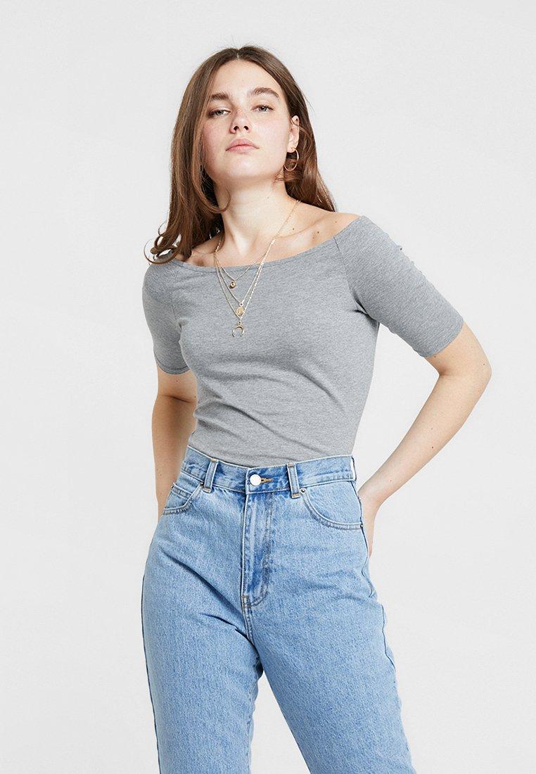 Modström T-Shirt print grey melange