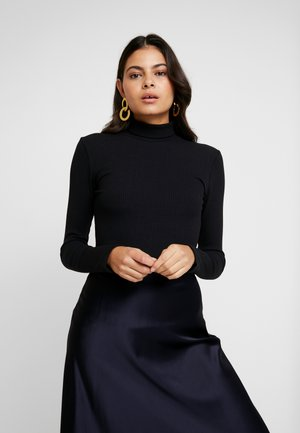 ORSON ROLLNECK - Long sleeved top - black