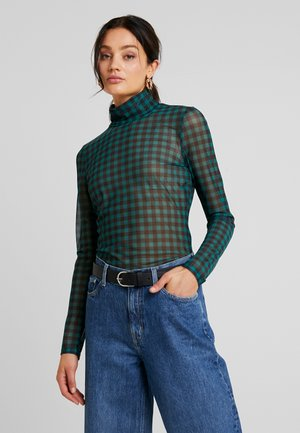 SIONA PRINT - Long sleeved top - dark green