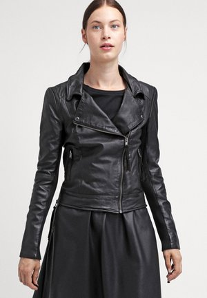 IMAN - Leather jacket - black