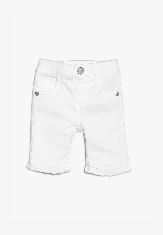 FRILL ANKLE SKINNY MINI GIRLS - Jeans Shorts - white
