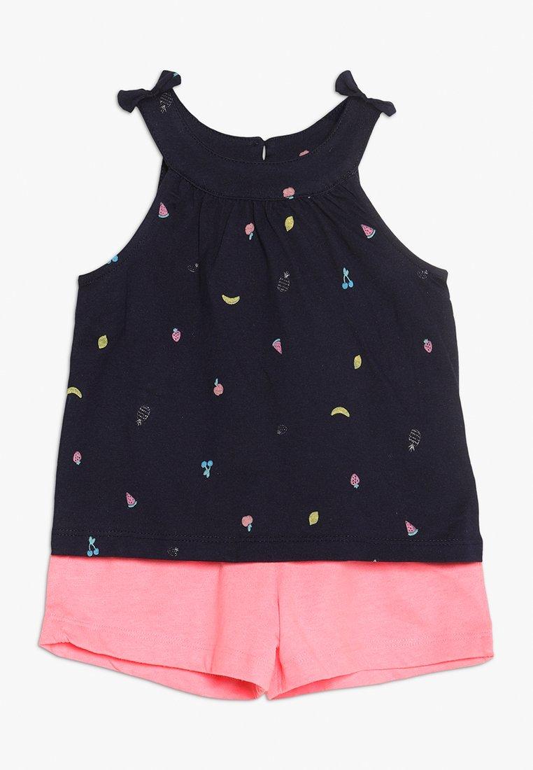 mothercare - PROMO NAVY VEST MINI GIRLS SET - Shorts - dark blue/pink
