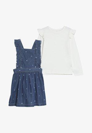 BABY FRILL PINI SET - Vestito di jeans - blue