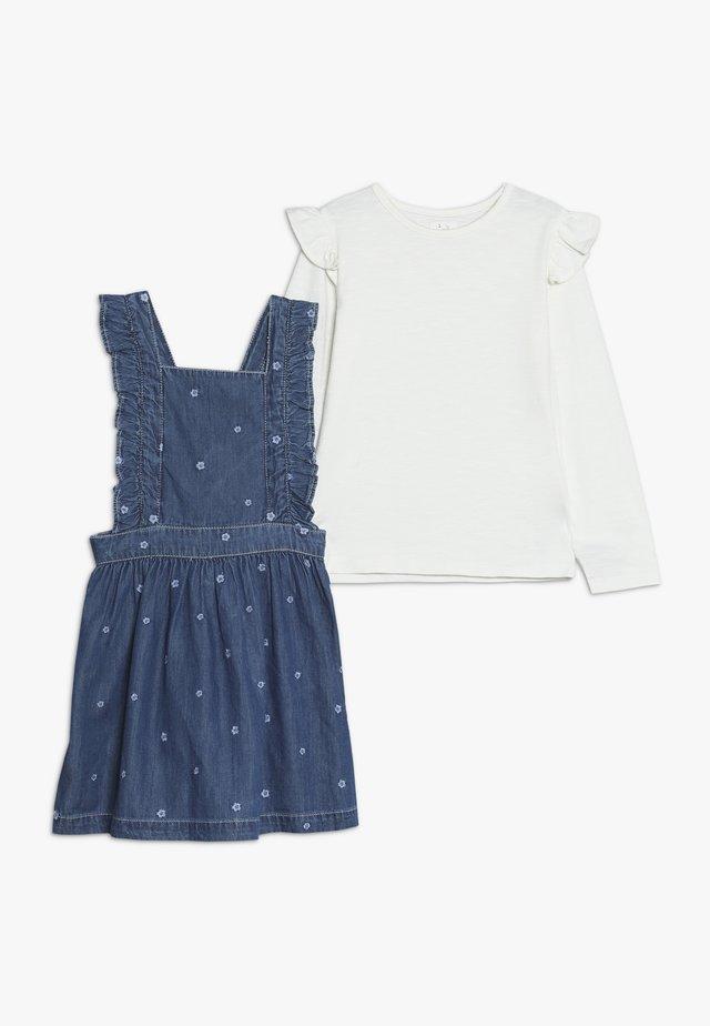 BABY FRILL PINI SET - Denimové šaty - blue