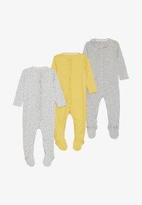 mothercare - BABY HANGING SLEEPSUITS 3 PACK - Pyjamas - yellow - 3