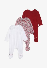 mothercare - BABY HANGING SLEEPSUITS 3 PACK - Babygrow - red - 6