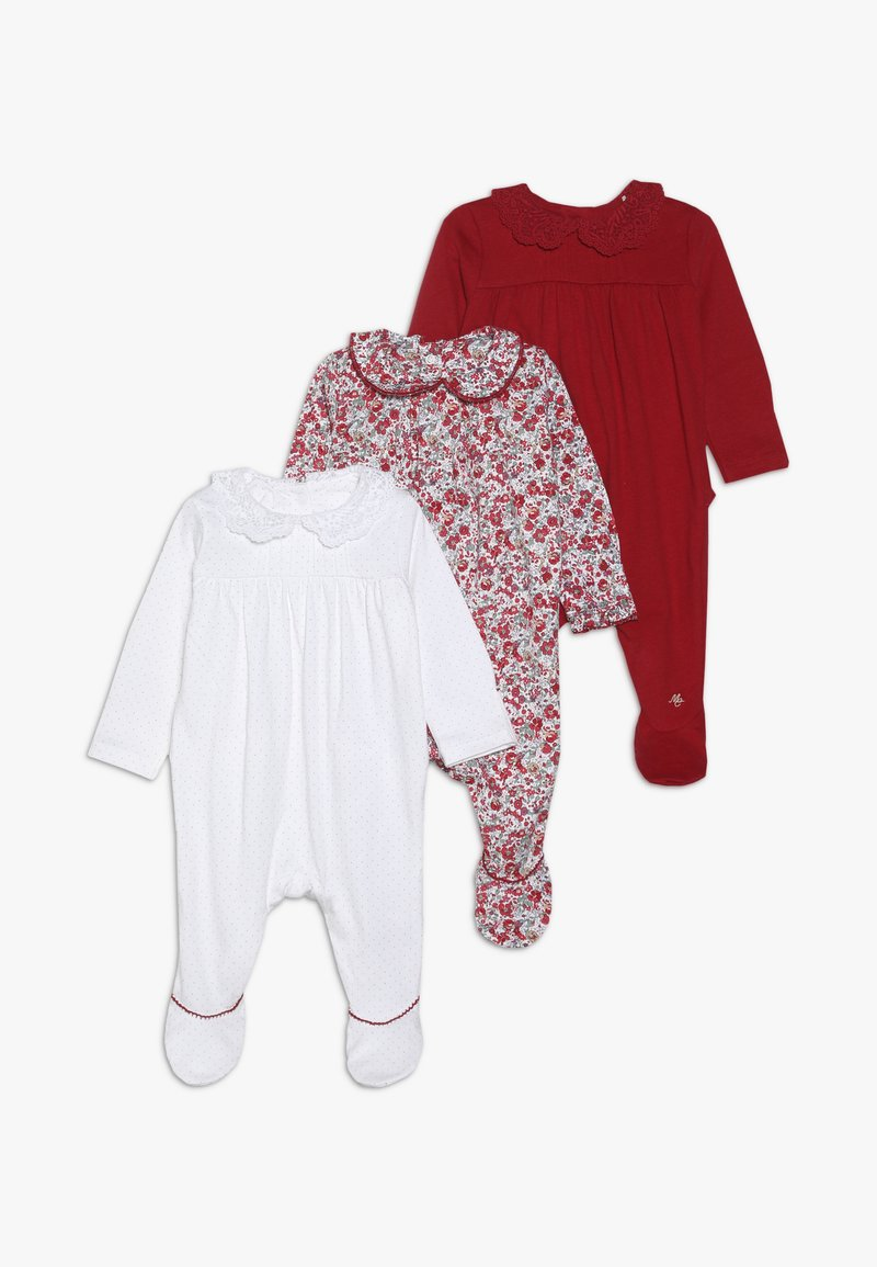 mothercare - BABY HANGING SLEEPSUITS 3 PACK - Dupačky - red