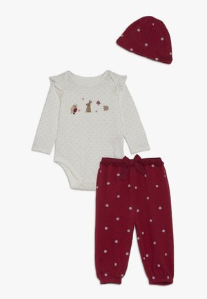 BABY DEER SET - Bonnet - red