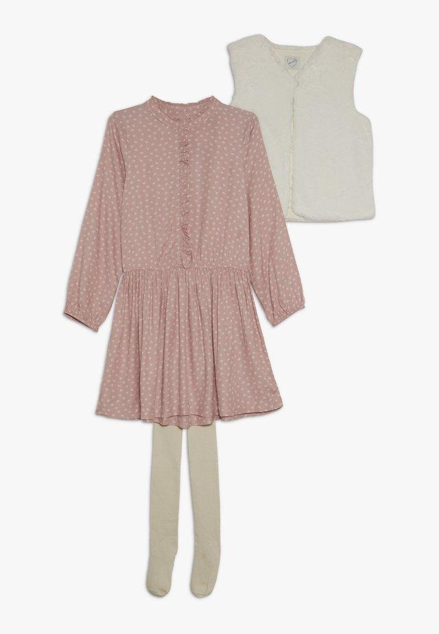 DRESS GILET TIGHTS SET - Waistcoat - pink