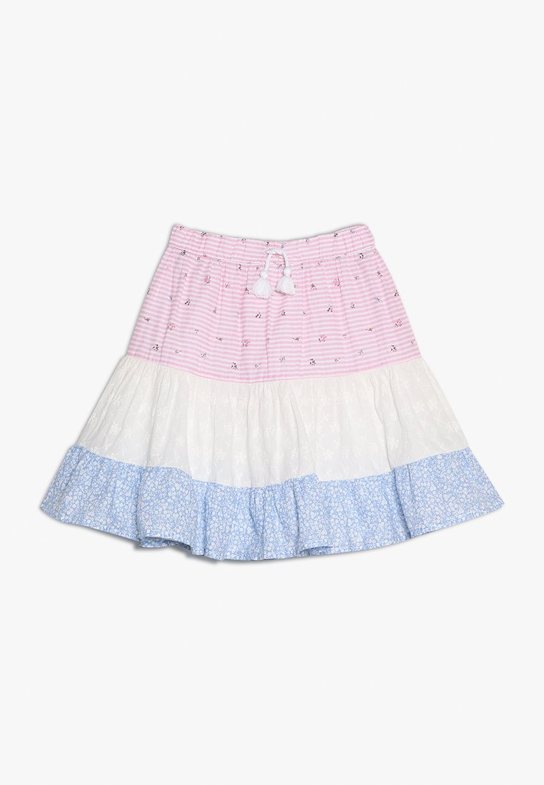 mothercare - PATCHWORK TIERED SKIRT - A-line skirt - pastels multicolor
