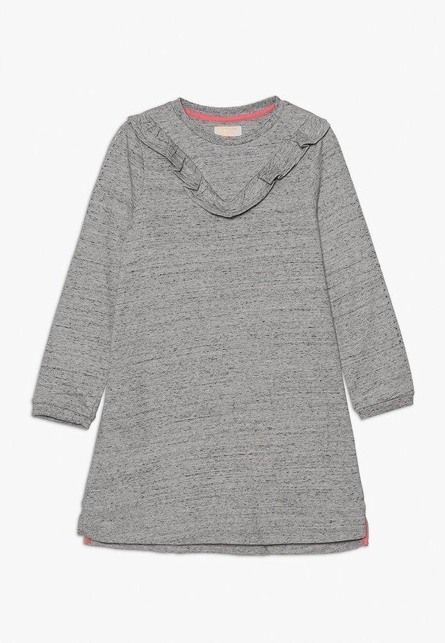 FRILL DRESS - Žerzejové šaty - grey