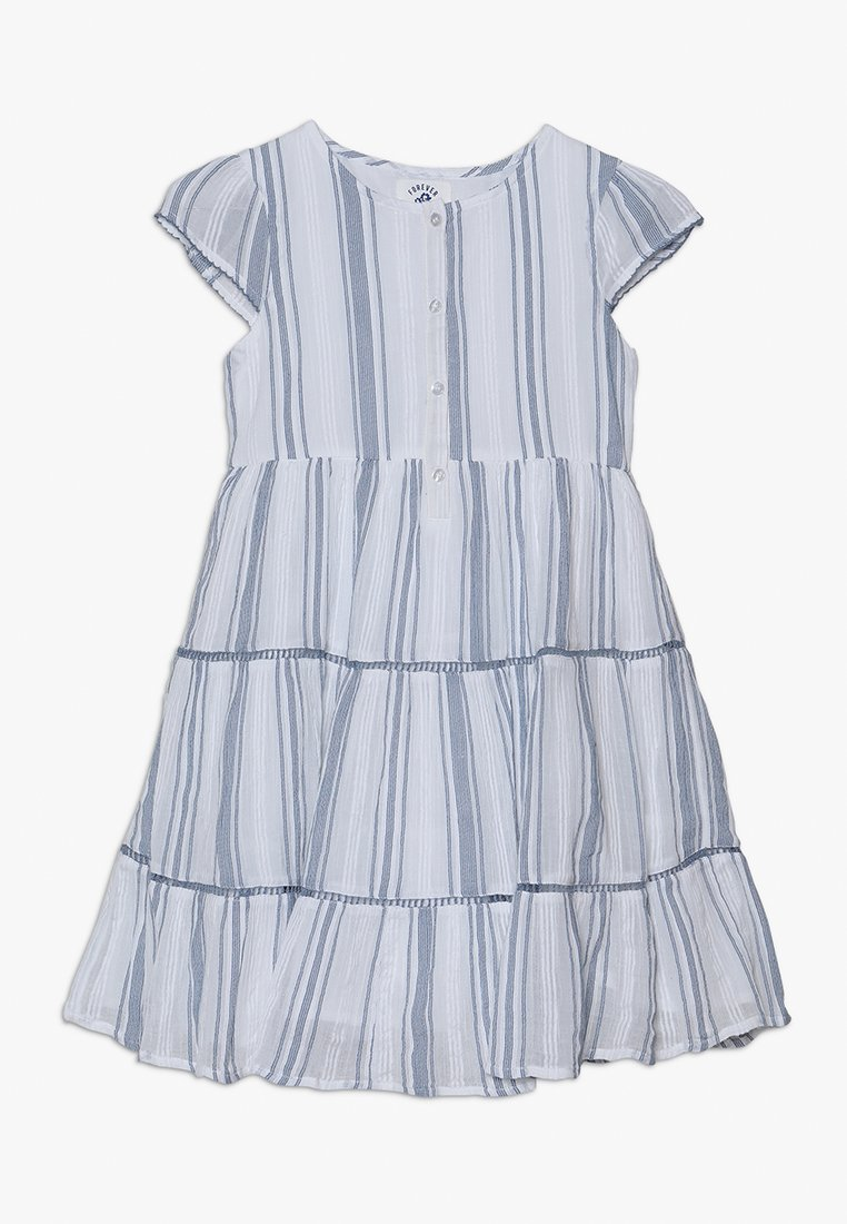 mothercare - STRIPE TIERED DRESS - Blusenkleid - white/blue