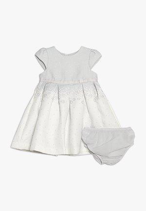BORDER TEXURE DRESS NEWBORN SET - Cocktailkleid/festliches Kleid - white