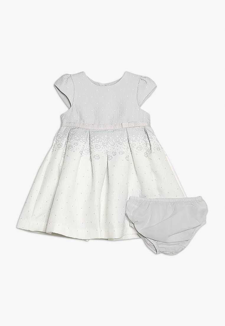 mothercare - BORDER TEXURE DRESS NEWBORN SET - Cocktailkleid/festliches Kleid - white
