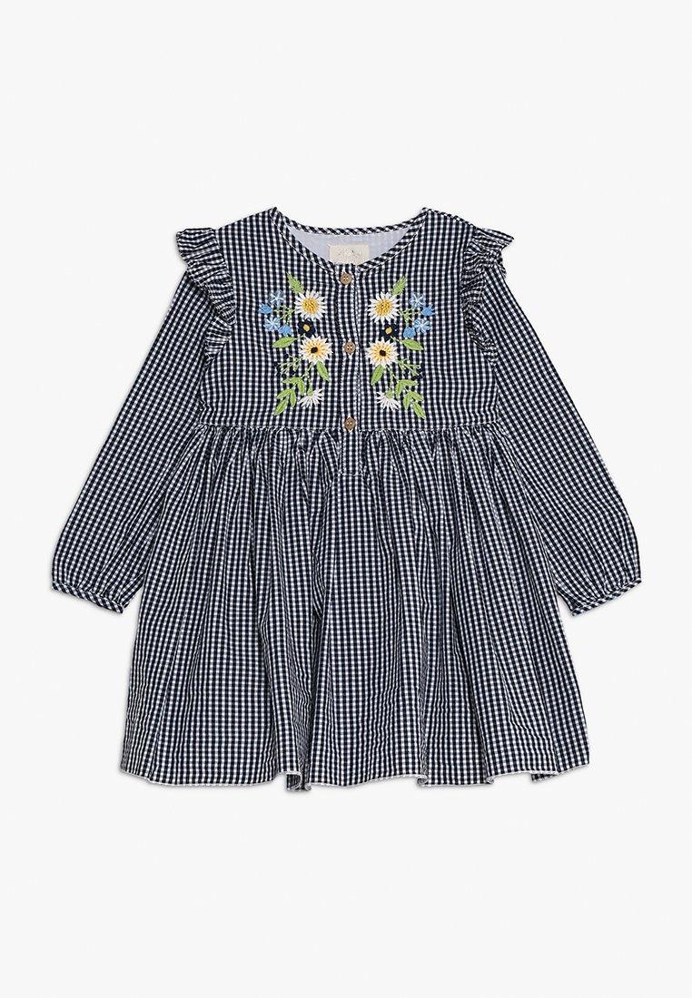 mothercare - GING FRILL DRESS MINI GIRLS - Vardagsklänning - blue