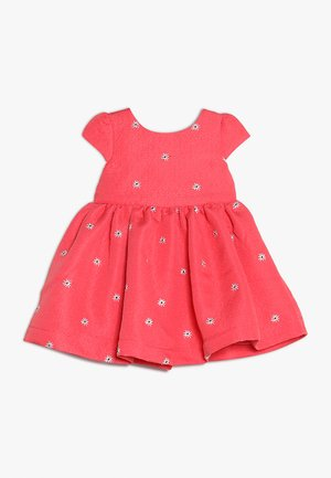 FLOWER DRESS MINI GIRLS - Cocktailkjoler / festkjoler - coral